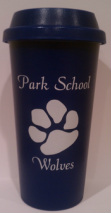 Blue Travel Mug with Park Paw Print