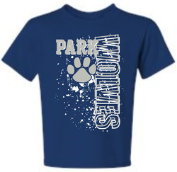 Black Cotton Tee with NEW Park Campus Design